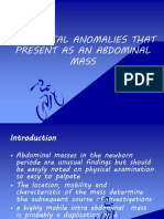 Copy of Congenital Anomalies That Present as an Abdominal Mass