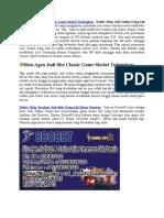Situs Agen Judi Slot Classic Game Sbobet Terlengkap