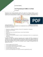 TCO métricas del valor de negocio Cloud Computing
