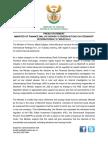 Ministry of Finance Statement on Oberservations Regarding Steinhoff International Financials
