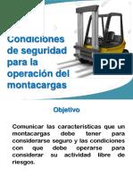 Condiciones de Seguridad Para La Operación Del Montacargas