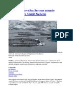 20171204 InnovaSea Systems Anuncio Adquisicion de Amirix Systems