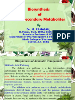 Biosynthesis of Plant Secondary Metabolites