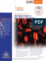 Troubleshooting Hemolysis