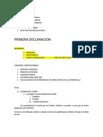 Primera Declaracion - Disertacion Ultimo