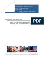 Massachusetts DCF Audit Report - Issued December 7, 2017