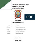 Trabajo de Maestria en Transporte Público
