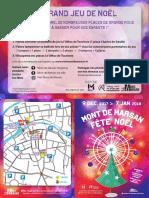 Programme des animations de Noël à Mont-de-Marsan