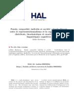 BOTTINEAU, D. Parole, Corporéité, Individu Et Société