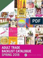 Spring 2018 UK Chronicle Books Adult Backlist Catalog