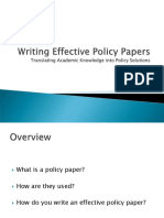 Effective Policy Paper Writing