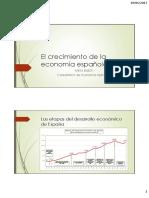 El crecimiento de la economía española