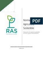 RAS Norma Agricultura Sostenible v3 5 Para Tercera Ronda de Consulta