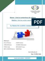 exposé (la fusion des sociétés commerciales).docx