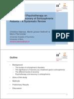 Personal Recovery in Schizophrenia