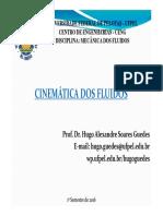 Aula 5 Cinemática Dos Fluidos