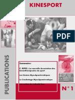 Kinesport publications n°1