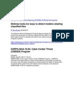 DARPA Cyber Insider Threat (CINDER) Cinder-STRATEGIC TECHNOLOGY OFFICE-25 August 2010