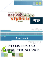 Lecture 1 Stylisitcs