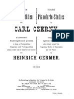 GERMER, H. - Selected Pianoforte Studies by Carl Czerny Vol II Part III