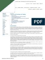 Término Del Contrato de Trabajo - Dirección Del Trabajo