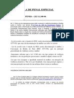 Penal Especial - Lei Maria Da Penha