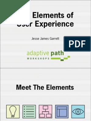 The Elements Of User Experience Jesse James Garrett Strategic Management User Interface Design