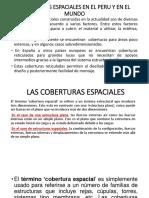 Coberturas Espaciales en El Peru y en El