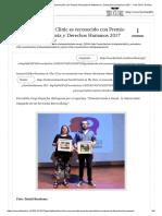 Periodista de the Clinic Es Reconocido Con Premio Periodismo Memoria y Derechos Humanos 2017 - The Clinic Online