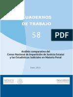 Cuaderno comparativo de estadísticas sistema penal mujeres