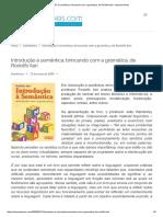 Introdução à Semântica_ Brincando Com a Gramática, De Rodolfo Ilari - Manoel Neves
