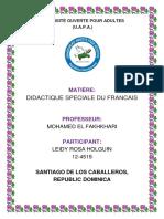 Devoir 5 Didactique Speciale Du Francais.doc