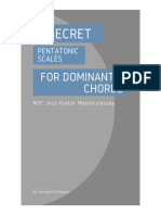 3 Secret Pentatonic Scales for Dominant 7 Chords