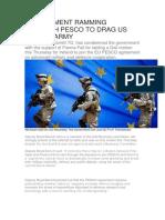 Government Ramming Through Pesco to Drag Us Into EU Army