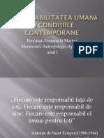 Responsabilitatea Umană În Condițiile Contemporane