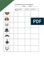 Protocolo de Respuestas Para El Test de Rorschach