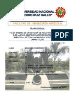 Informe Final - Riego Presurizado
