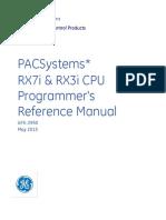 GFK2950 PACSystems RX3i Rx7i CPU Prog Ref Manual