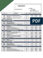Presupuesto Pontones - Huampani 96