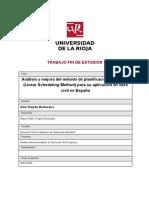 Analisis Del Metodo de Planificacion Lineal