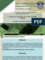 Historia de La Tabla Periodica de Los Elementos Quimicos