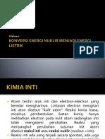 (3) Konversi Nuklir Menjadi Listrik
