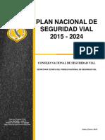 Proyecto Del Plan Nacional de Seguridad Vial 2015_2024