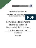 INS Vacuna Contra Neumococo 2013