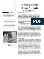 Making a mold using Alginate