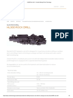 HL300 Rock Drill — Sandvik Mining & Rock Technology