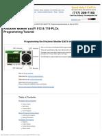 Klockner Moeller EASY 512 Programming Instructions