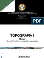 Geometría Analítica de Los Cálculos Topográficos