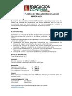 Curso de Diseño de Plantas de Tratamiento y Aguas Residuales