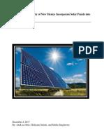 solar panel paper